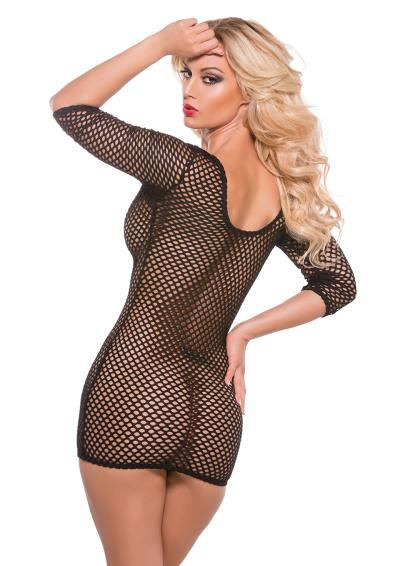 VINYL&FISHNET MINI SLEEVES BLACK OS