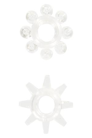 POWER STRETCHY RINGS CLEAR 2PCS
