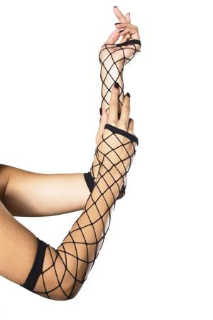 FINGERLESS INDUSTRIAL NET GLOVES OS