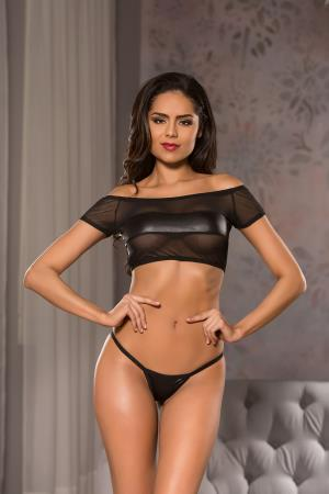 OFF THE SHOULDERS TOP&G-STRING S/M