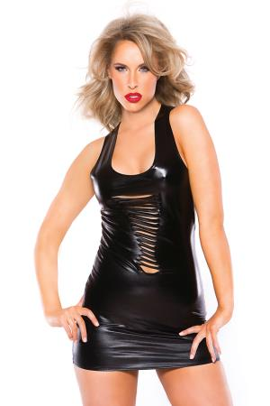 RISQUE KITTEN DRESS BLACK OS