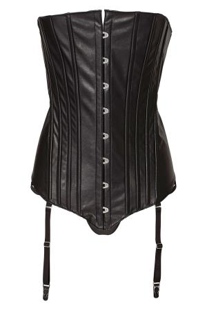 AV CORSET WITH FRONT LACE M BLACK