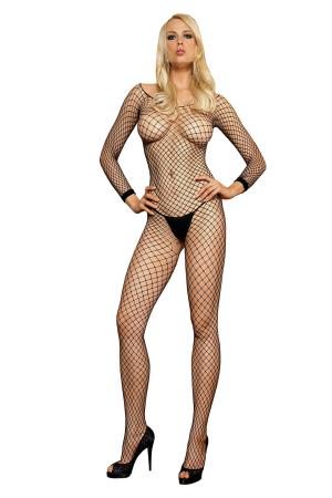 LONG SLEEVES BODYSTOCKING OS
