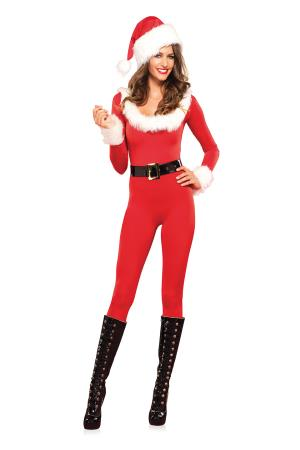 SANTA BABY CATSUIT  RED M