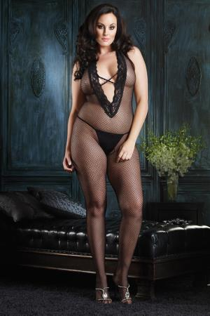 HALTER BODYSTOCKING  PLUS SI