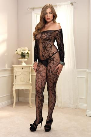 OFF THE SHOULDER BODYSTOCKING  PLUS