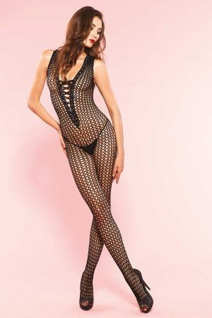 CROCHET NET BODYSTOCKING  OS
