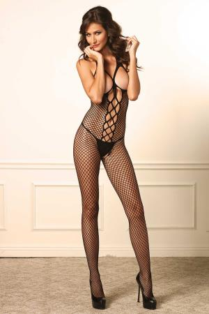 CUPLESS NET BODYSTOCKING  OS